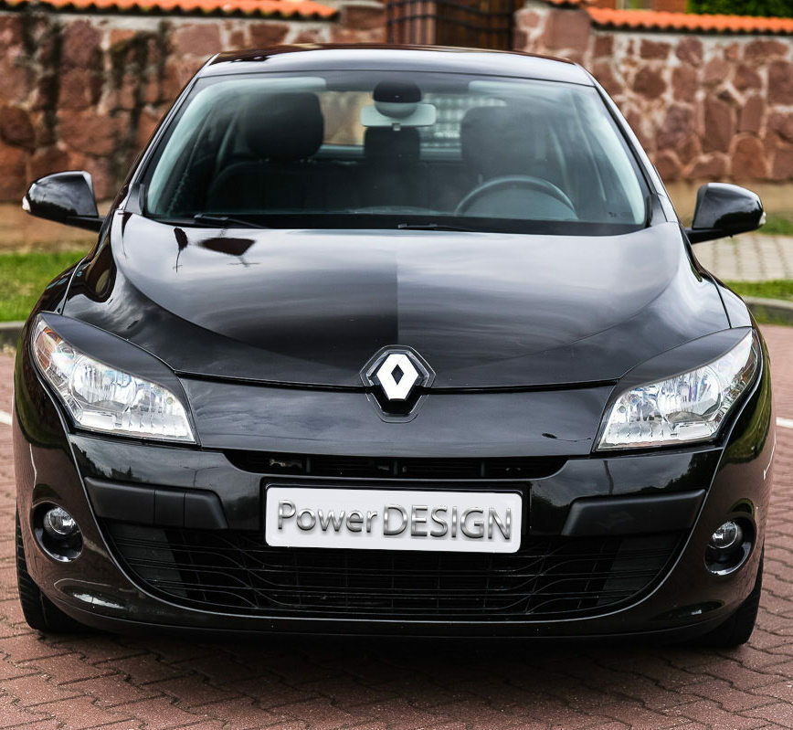 eyebrows for renault megane iii mk 3 2008 2014 headlight eyelids abs plastic picclick uk. Black Bedroom Furniture Sets. Home Design Ideas