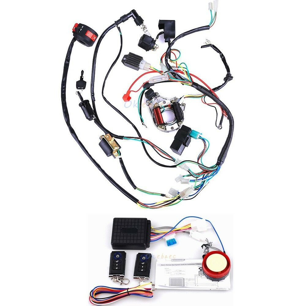 Electrics Atv Stator 50cc 70 110cc 125cc Cdi Wiring Harness Remote 110 Diagram Start Switch 1 Of 9free Shipping