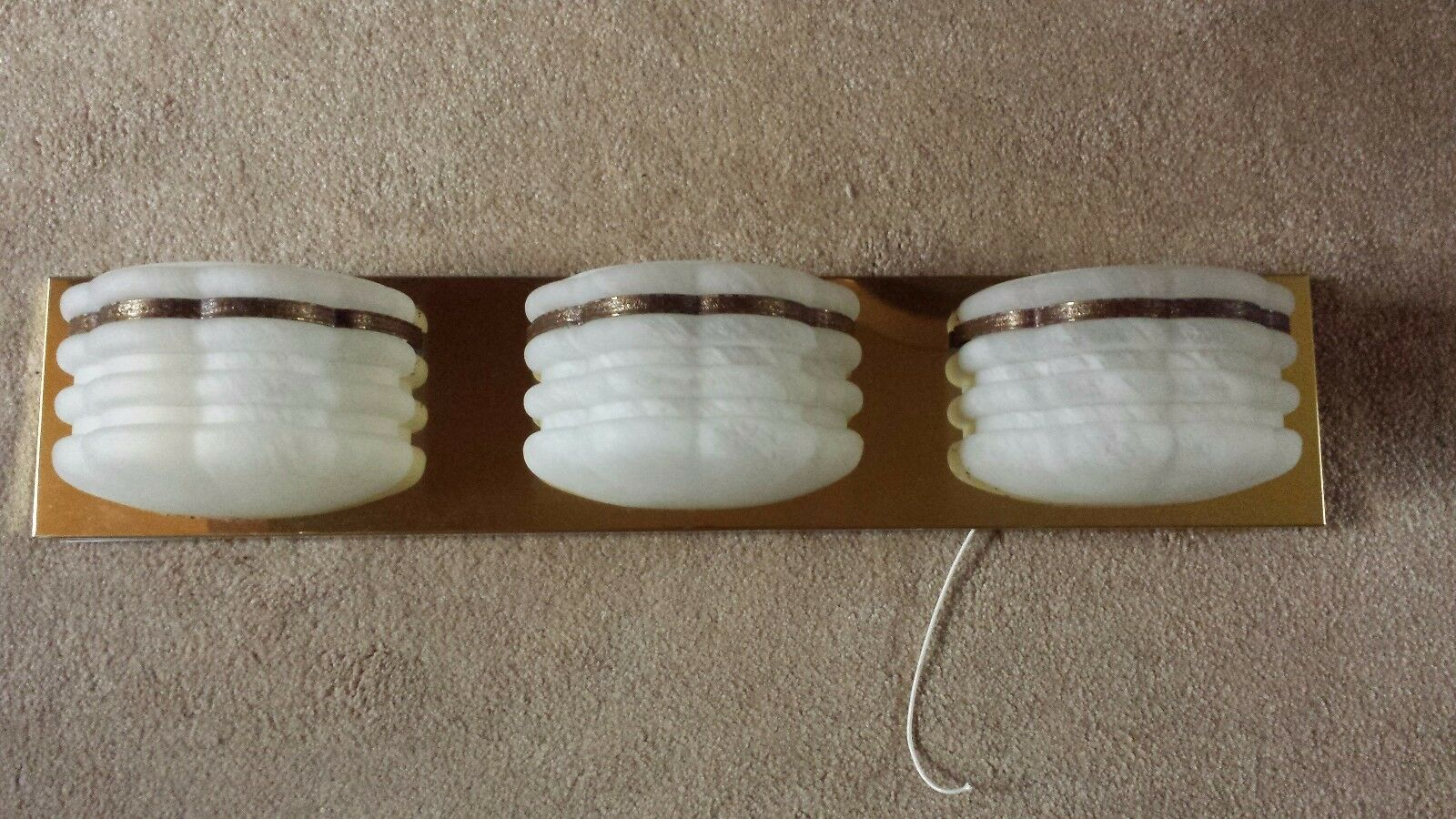 3 Socket Frosted Glass Light Fixture Grecian Incandescent Luminaire