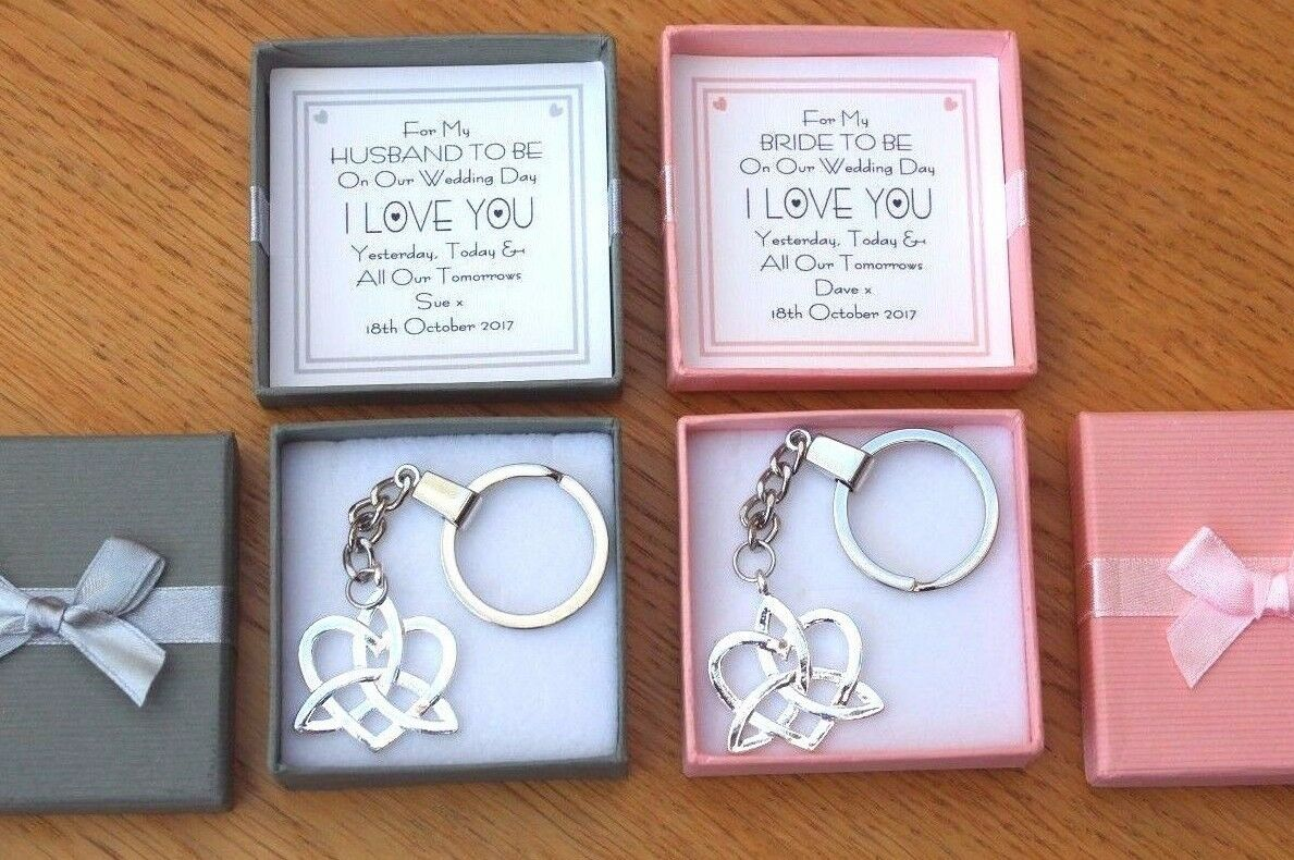 Husband To Be Gift Wife Personalised Wedding Day Keepsake Love Knot