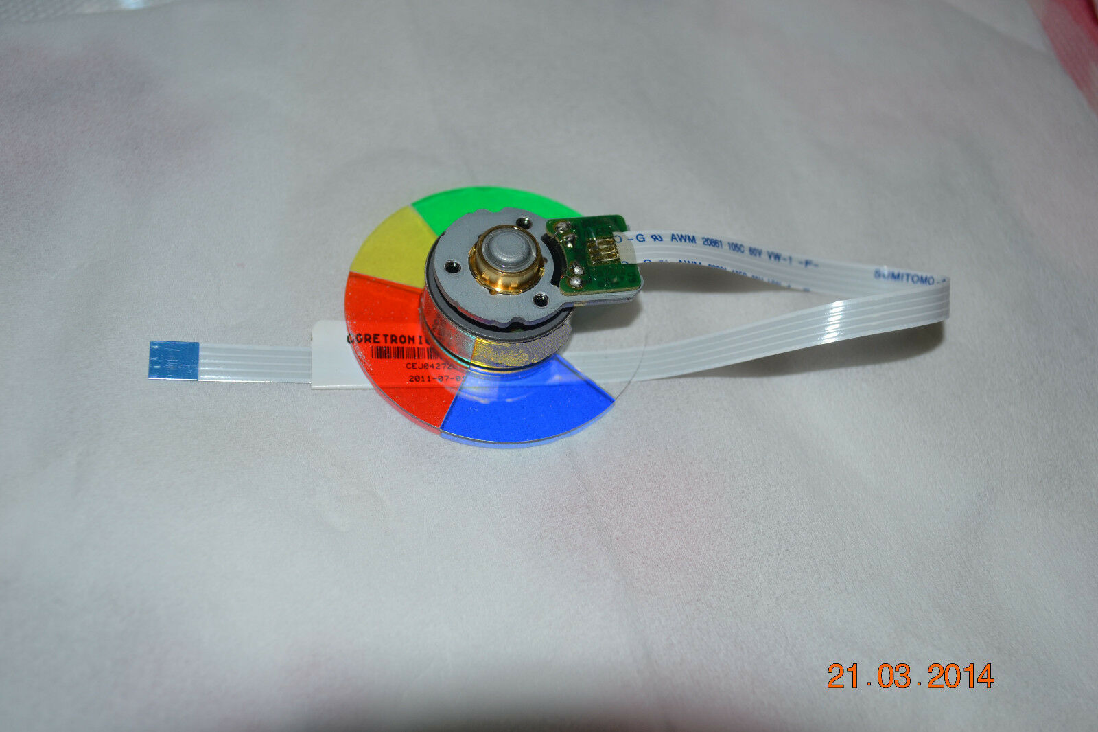 Original New Dell 4350 Projector Color Wheeldell Wheel Mitsubishi Hc3000 Schematics 1 Of 1only 2 Available