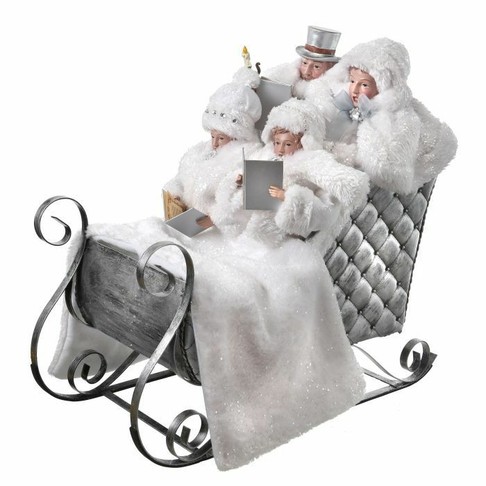 Image result for white carolers in sleigh