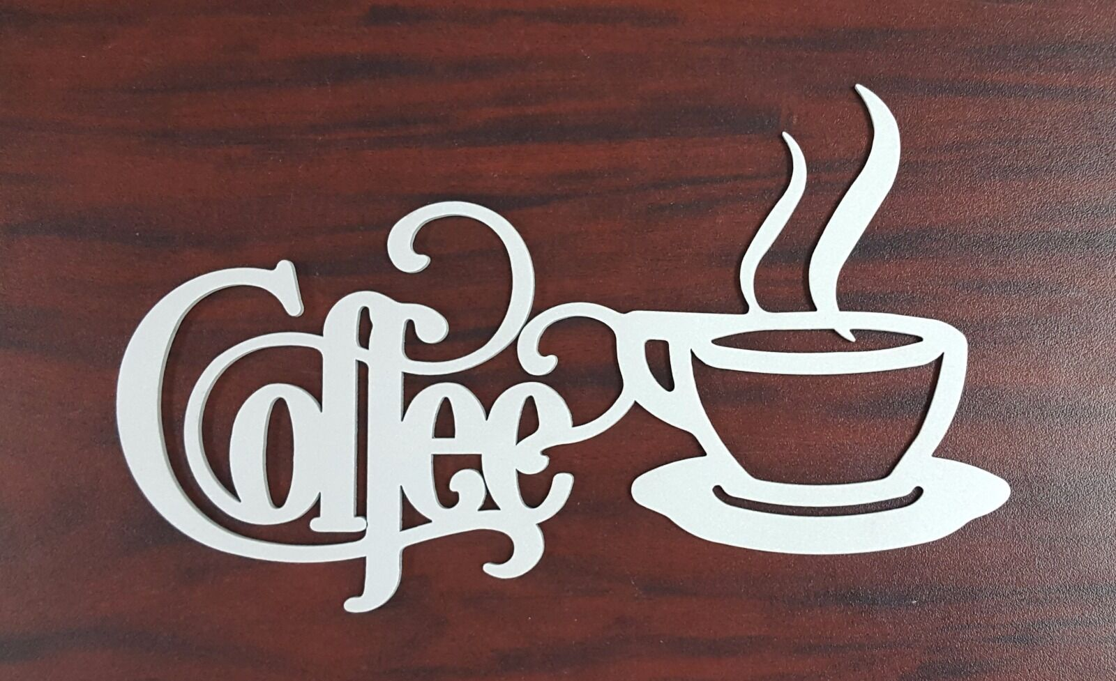Coffee Sign With Mug 14 X 7 Metal Kitchen Bistro Wall Decor