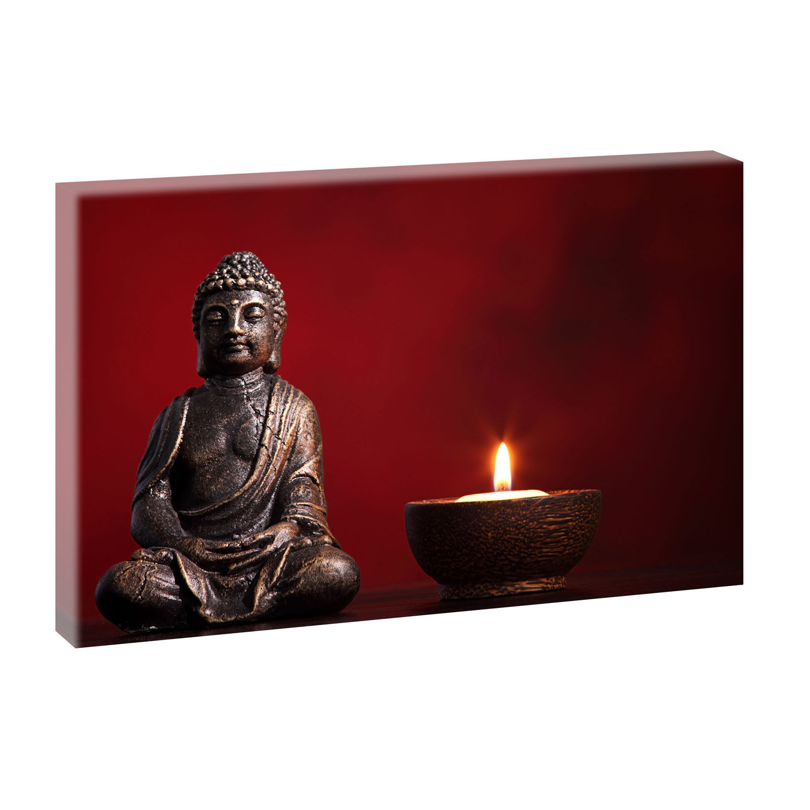 buddha panorama bild feng shui fotoleinwand poster wandbild 100 cm 65 cm 643 eur 29 90. Black Bedroom Furniture Sets. Home Design Ideas