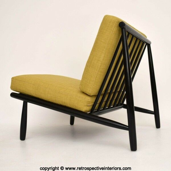 RETRO SWEDISH LOUNGE CHAIR BY ALF SVENSSON VINTAGE 1950's