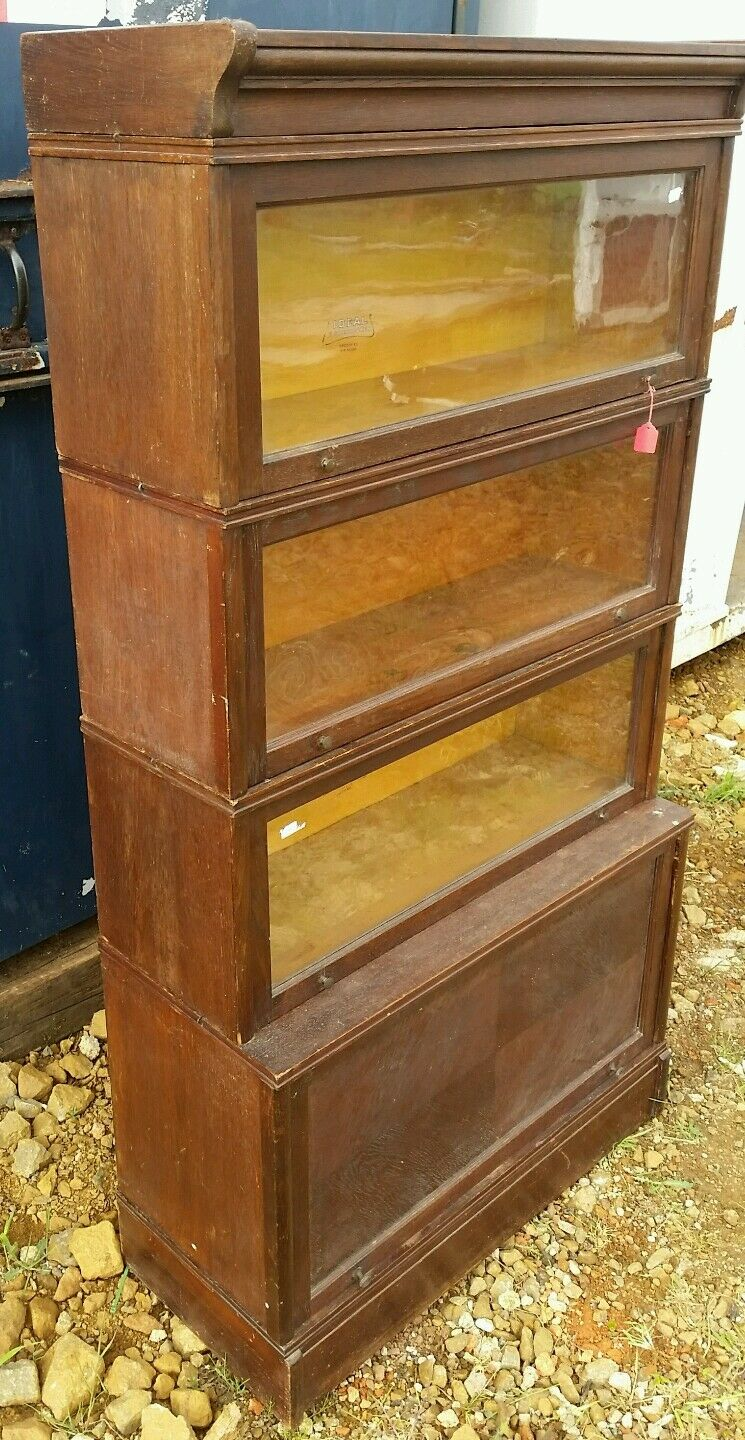 Antique vintage Oak Ideal Stacking bookcase library law lawyer
