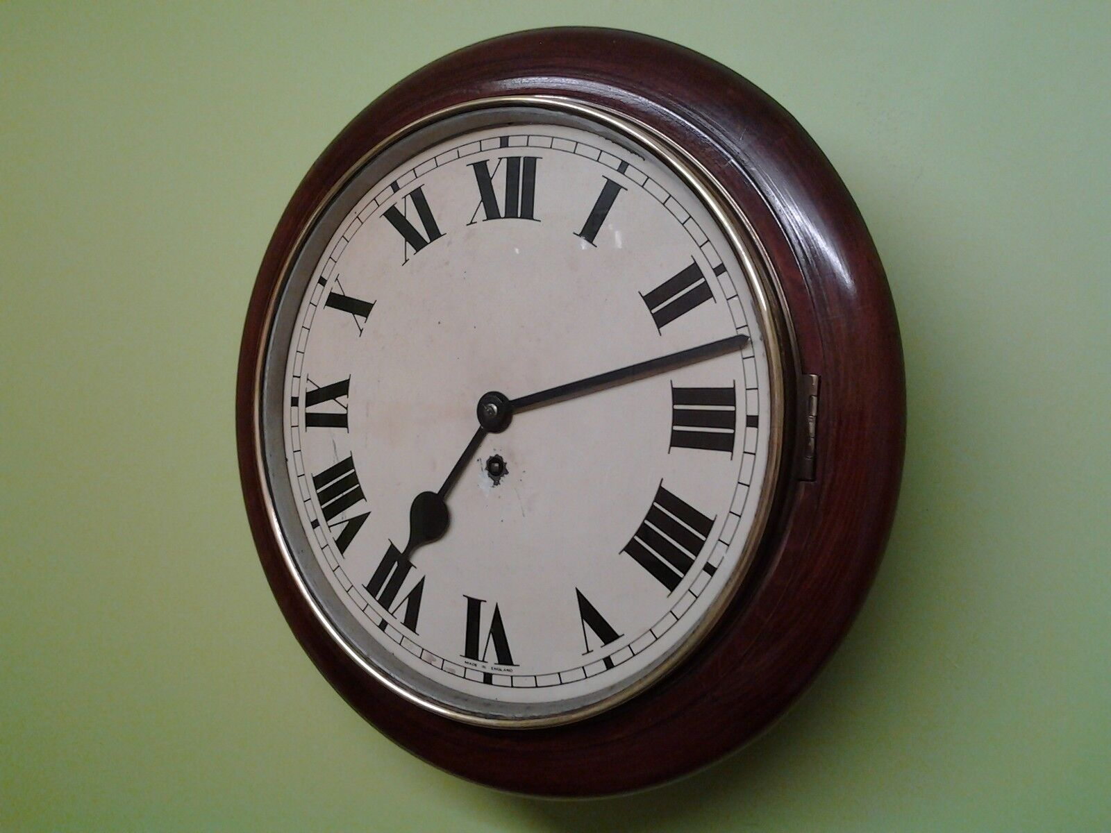 """SUPERB 15""""inch """"SMITHS EMPIRE """" SCHOOL-STATION WALL CLOCK ( WORKING PERFECTLY )"""