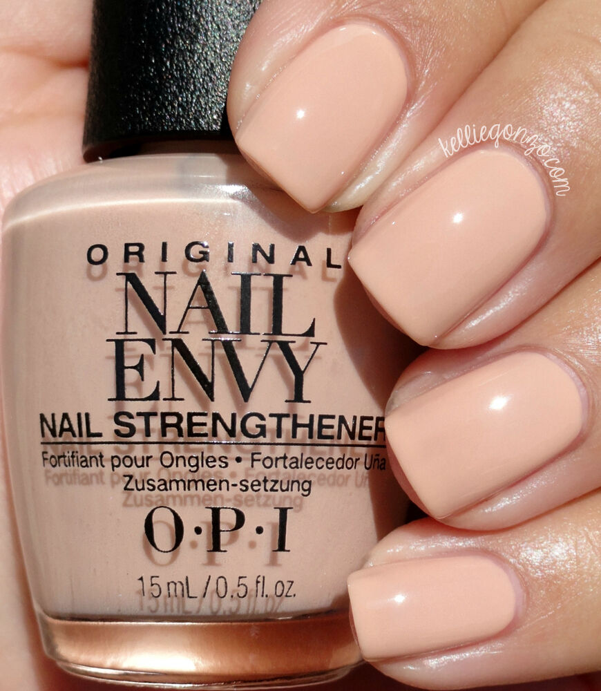 OPI NAIL ENVY nail strengthener + color in samoan sand - 15ml BOXED ...