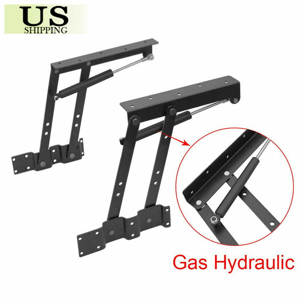 Lift Up Top Coffee Table Lifting Frame Mechanism Gas Hydraulic Pneumatic Hinge Picclick