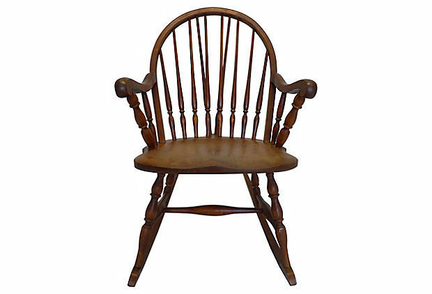 Country Style Spindle Back Rocking Chair 1 Of 5Only 1 Available ...