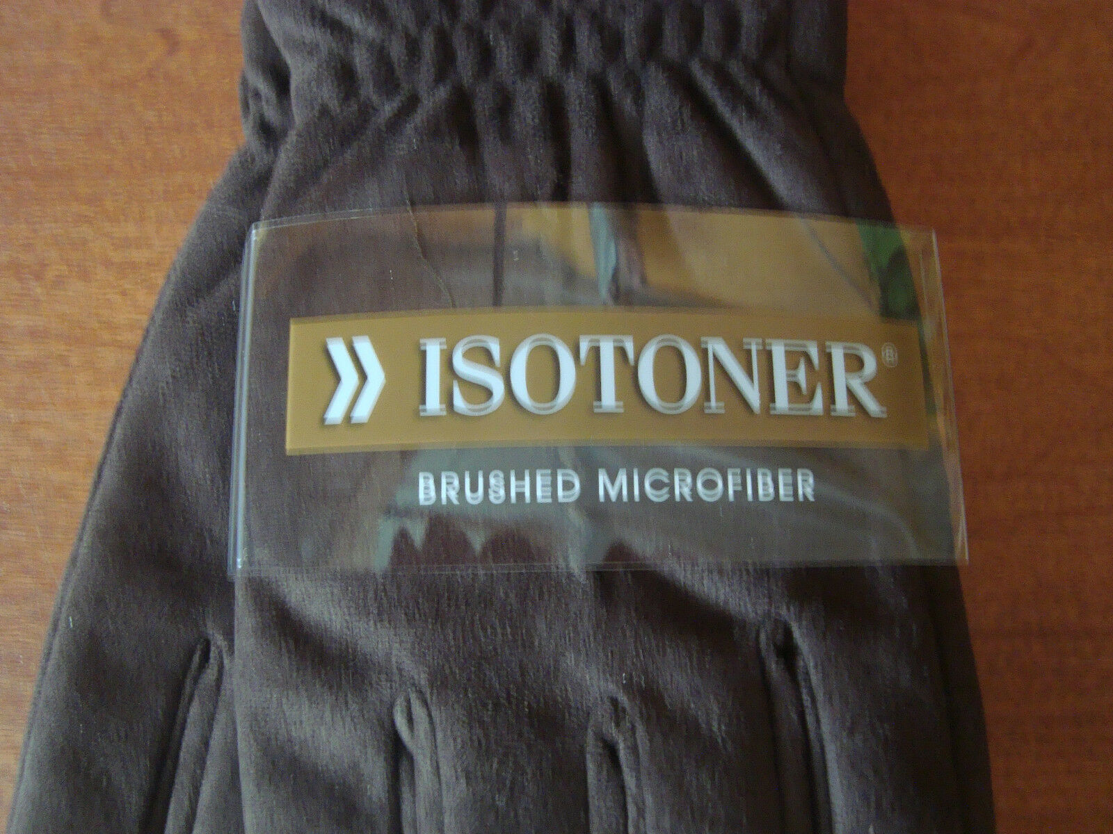 Mens gloves isotoner -  New Mens Size Large L Black Isotoner Gloves Brushed Microfiber