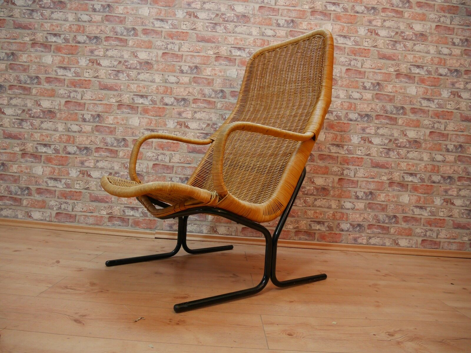 50er 60er jahre korbstuhl armlehnstuhl sessel basket chair 50s eur 199 00 picclick de. Black Bedroom Furniture Sets. Home Design Ideas