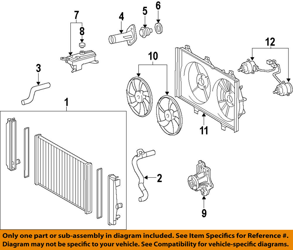 2007 Camry Engine Diagram Water Pump Electrical Wiring Diagrams Toyota Oem 07 09 161000h010 133 53 Picclick 93