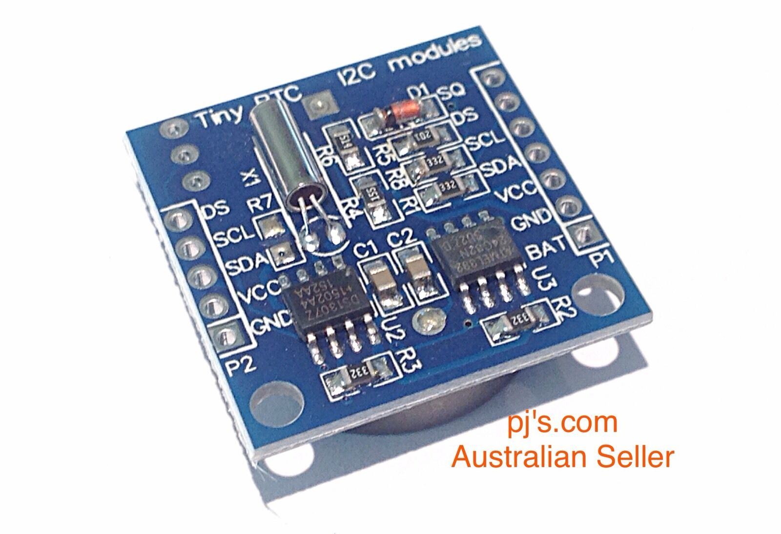 Rtc I2c Module Ds1307 At24c32 Time Clock Avr Arm Pic Smd Arduino Ds1307realtimeclockschematic 1 Of 3free Shipping