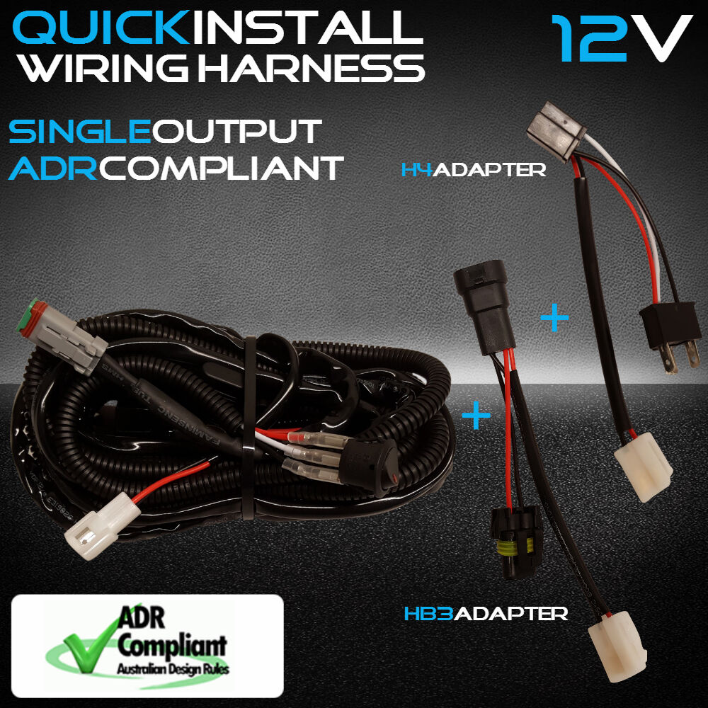 12v Single Car Led Light Bar Wiring Loom Harness High Beam Quick Fit 1 Of 5free Shipping