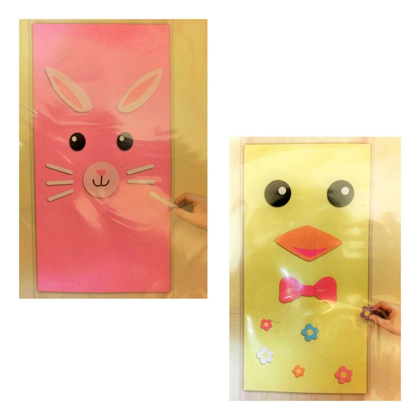 EASTER BUNNY CHICK DOOR COVER SET Spring Party Wall Decoration ...