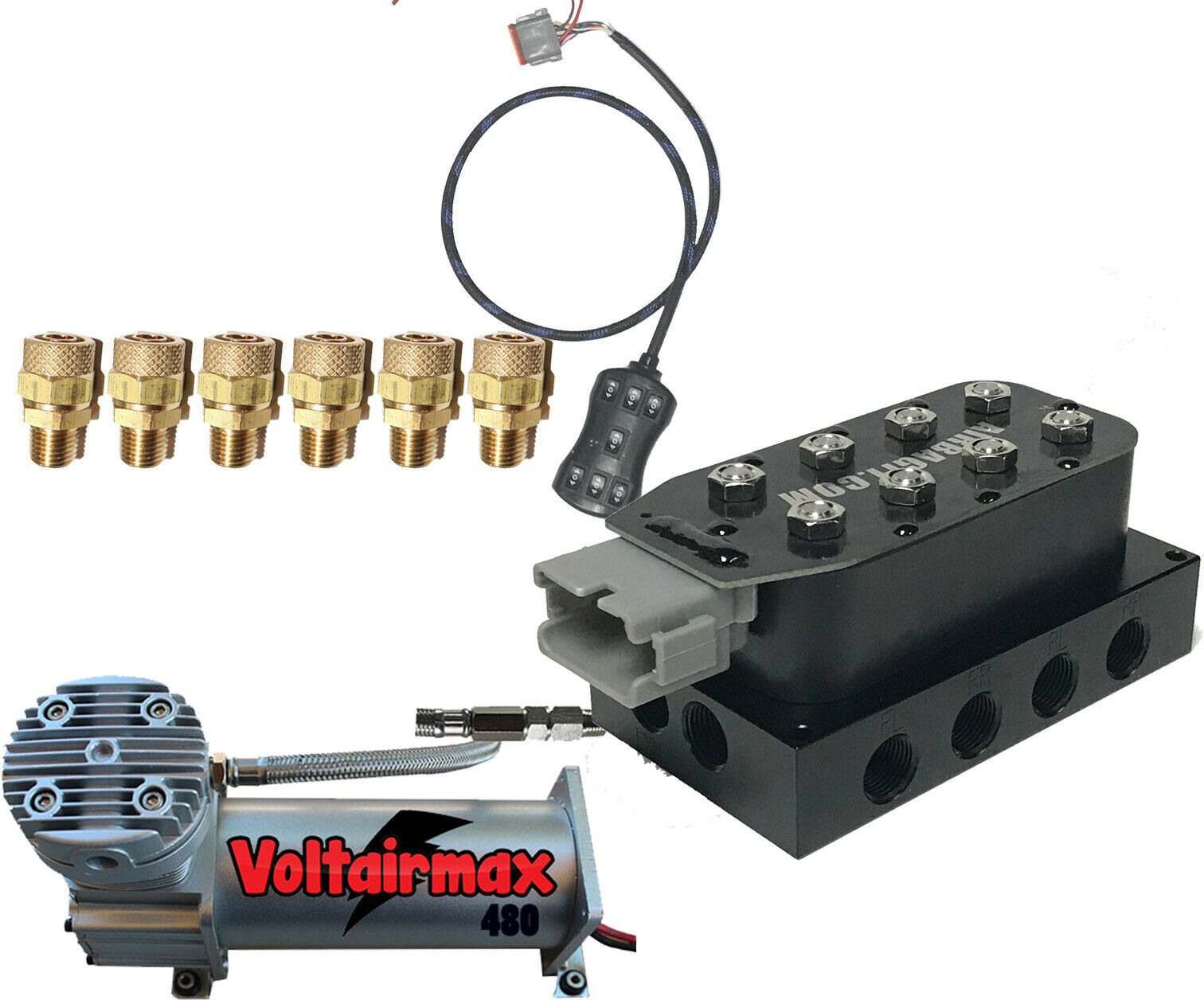 Air Suspension Kit Accu Rate 3 8 Smartride Dc480 Compressor For Accuair Viair Wiring Diagram 1 Of 1free Shipping