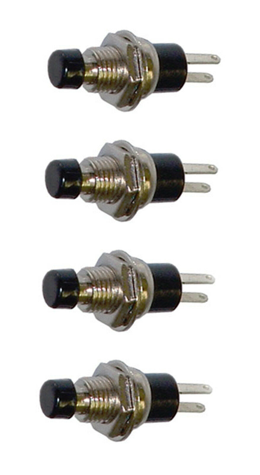 4 Pack Spst Normally Closed Momentary Push Button Switch Black 25020 Relay 1 Of 1free Shipping