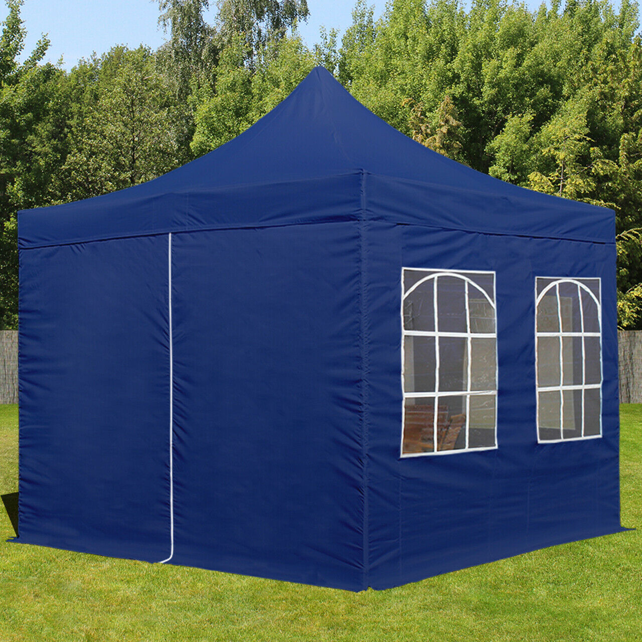 3x3m faltpavillon partyzelt mit seitenteilen pavillon gartenzelt in blau eur 229 99 picclick nl. Black Bedroom Furniture Sets. Home Design Ideas