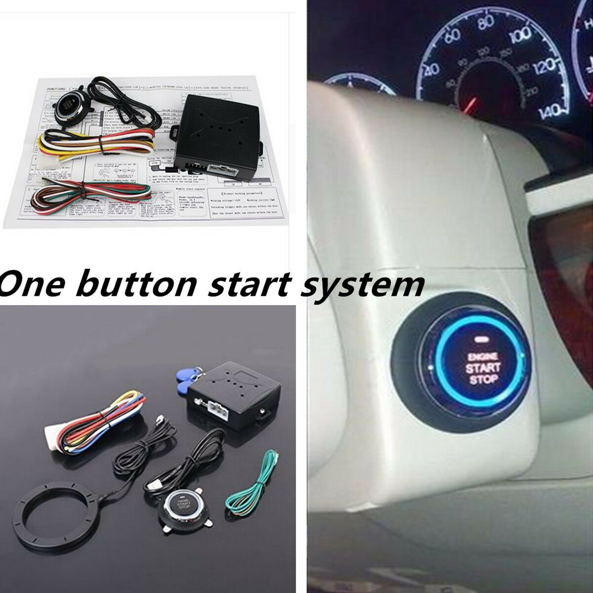 Dc 12v Keyless Entry Car Suv Engine Push Start On Lock Ignition Immobilizer