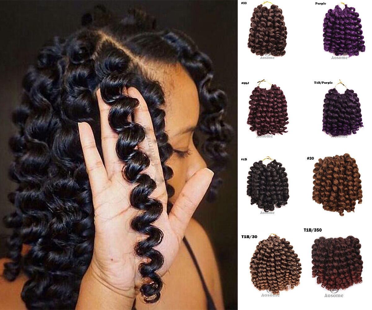 8inches Wand Curl Crochet Hair Extensions Ombre Havana Mambo Twist