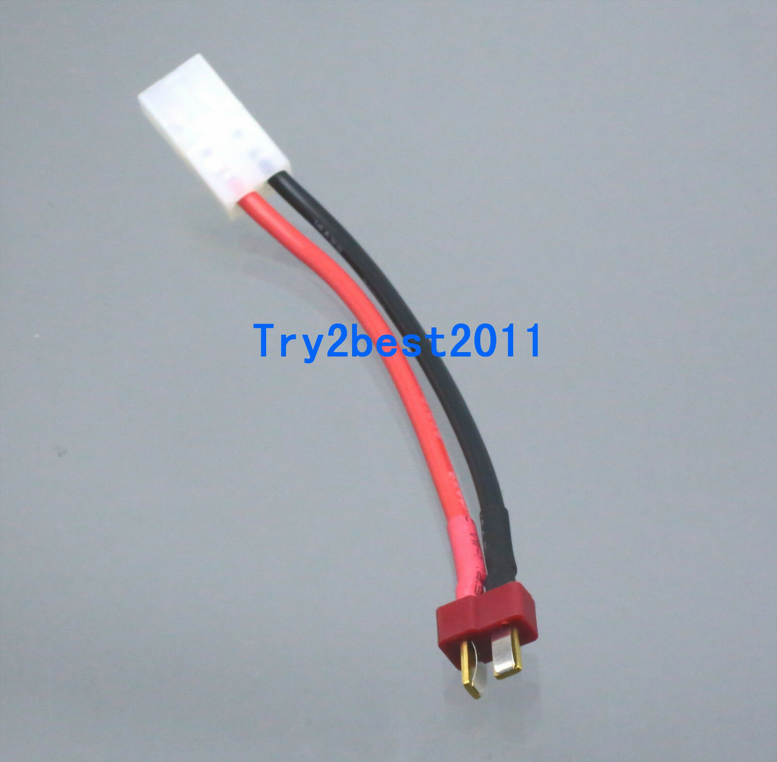 TAMIYA FEMALE TO Male T-Plug (Deans\' Style) Adapter with 10CM (~4 in ...