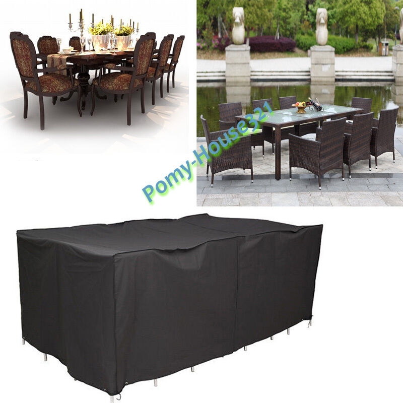 Patio Furniture Cover Square Rattan Wicker Table Chair Set Covers Waterproof