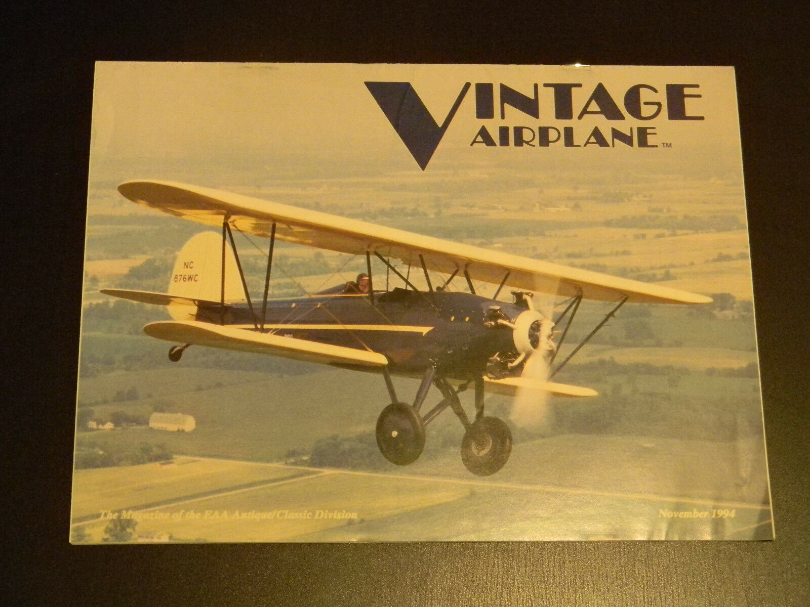 The Vintage Airplane November 1994 Vol 22 #11 The 1929 Wallace ...