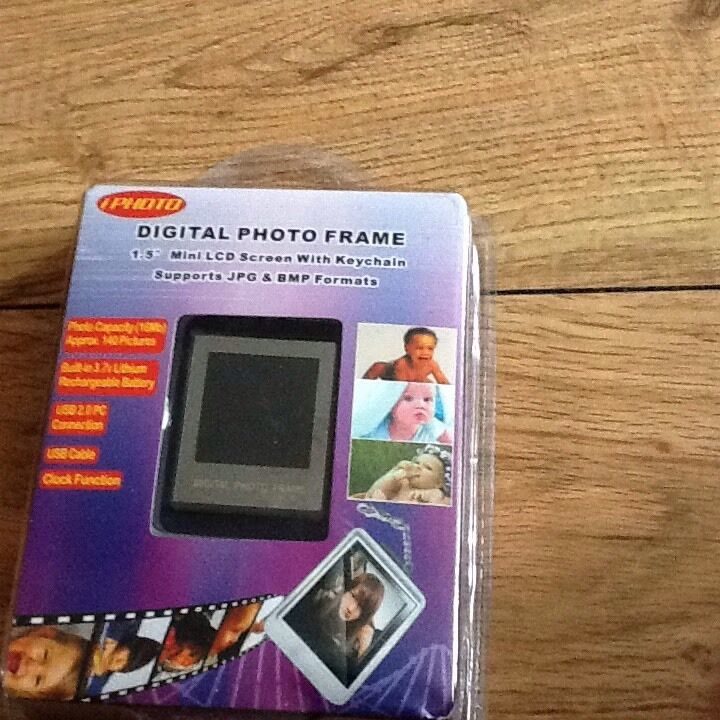 digital photo frame keyring instructions