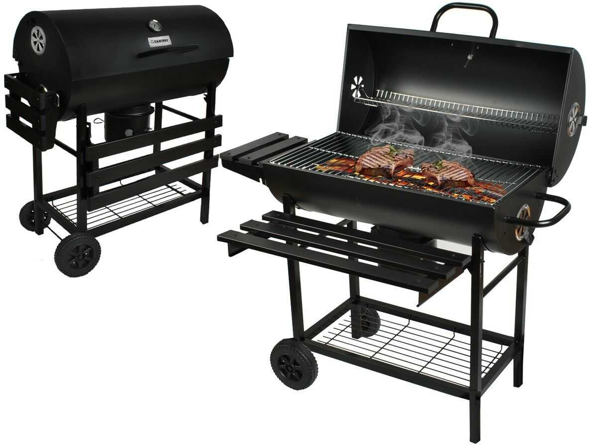 grillwagen holzkohlegrill bbq smoker stand grill holzkohle profi xxl t v 3246 eur 139 90. Black Bedroom Furniture Sets. Home Design Ideas