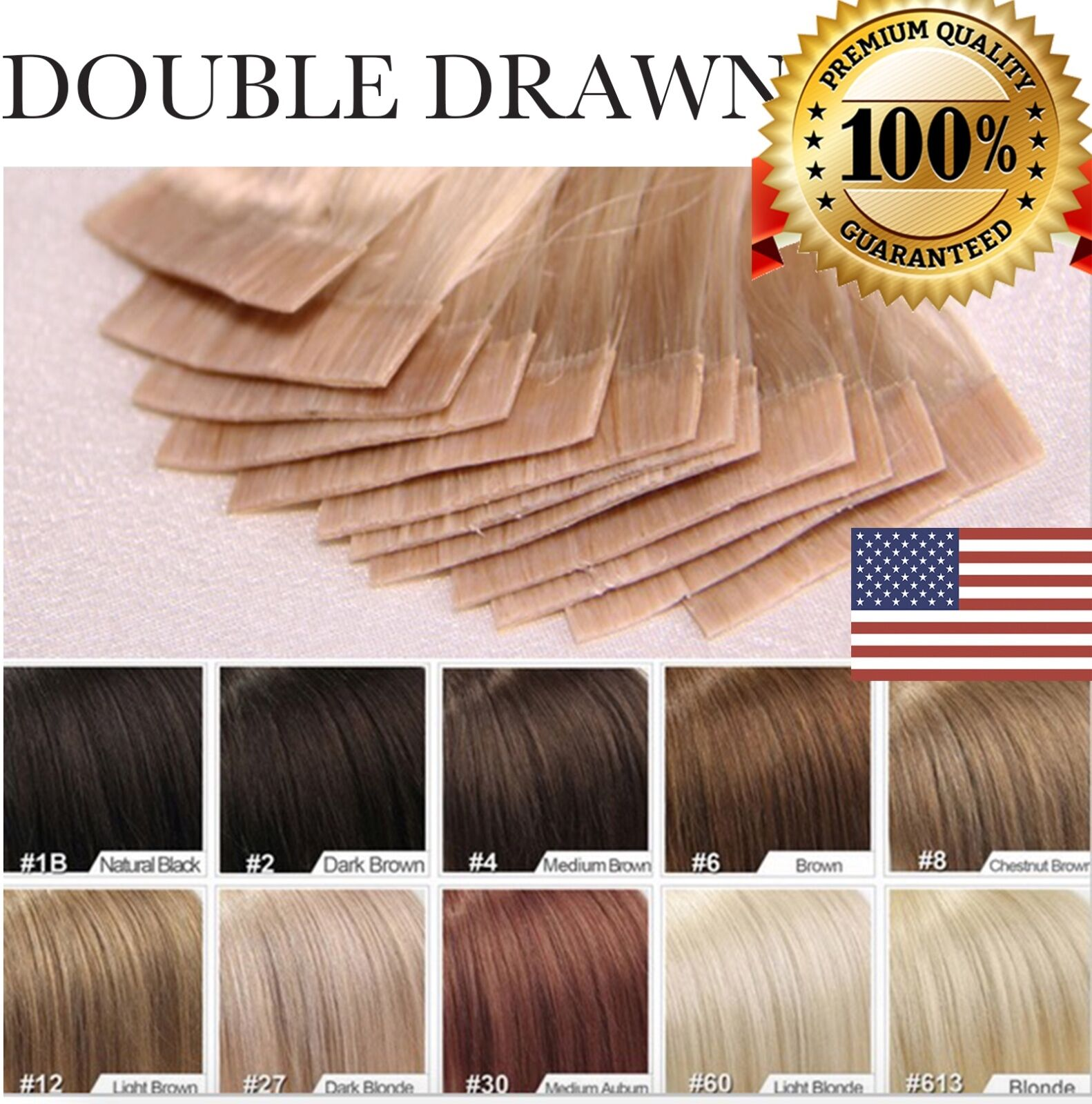 Us 7a Tape In 100 Remy Human Hair Extensions 100 Skin Weft