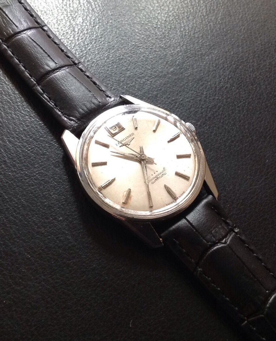 vintage longines conquest automatic mens with date