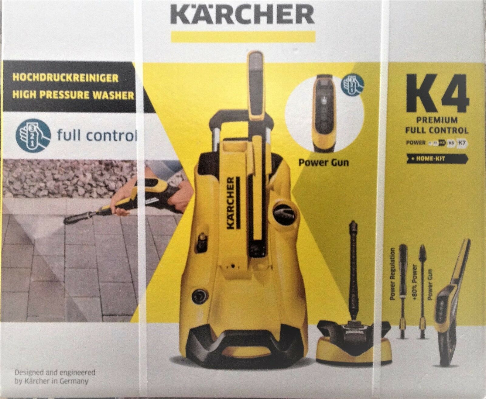karcher k4 premium full control home pressure washer package t350 patio cleaner. Black Bedroom Furniture Sets. Home Design Ideas