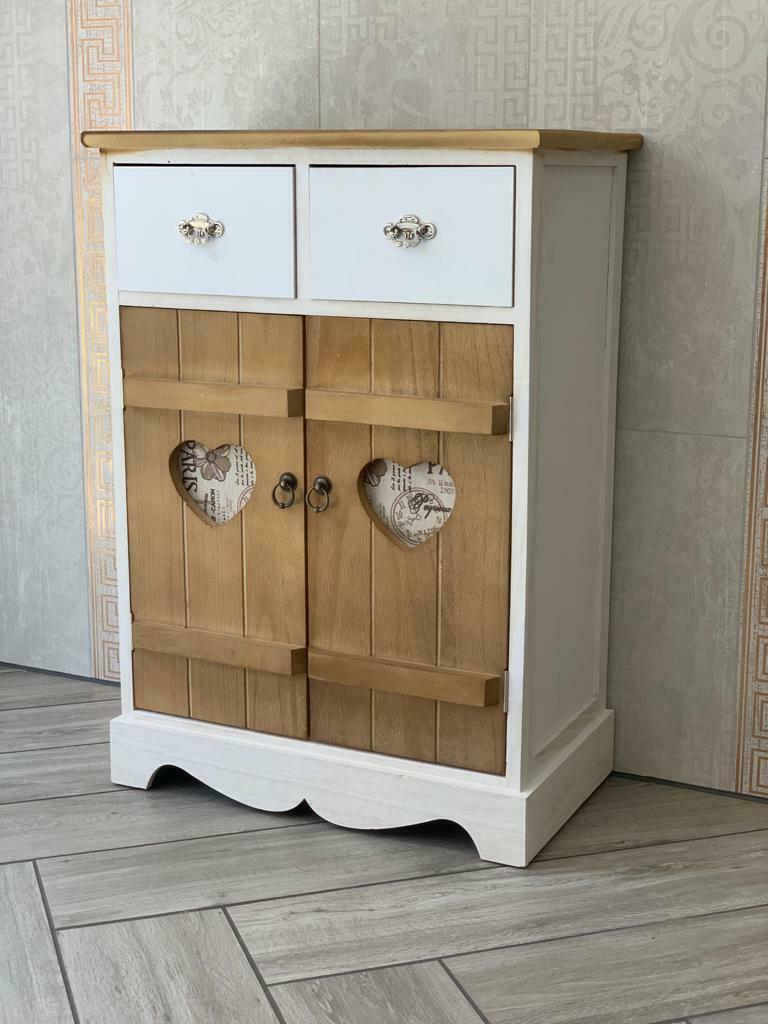 shabby chic cupboard rustic wooden storage unit white bedroom furniture vintage. Black Bedroom Furniture Sets. Home Design Ideas