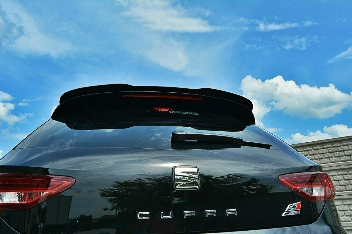 seat leon 5f cupra fr heckspoiler spoiler ansatz dachspoiler schwarz gl nzend eur 129 00. Black Bedroom Furniture Sets. Home Design Ideas