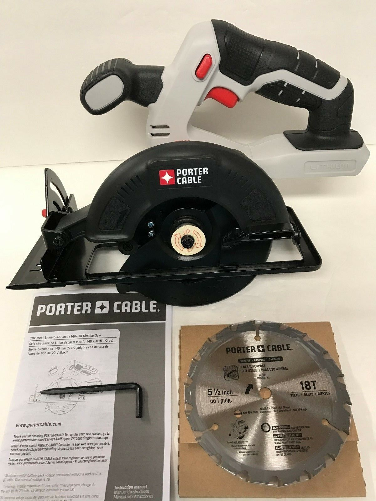 Porter cable 20v 20 volt max pcc661 5 12 circular saw lithium ion 1 of 7free shipping greentooth Gallery