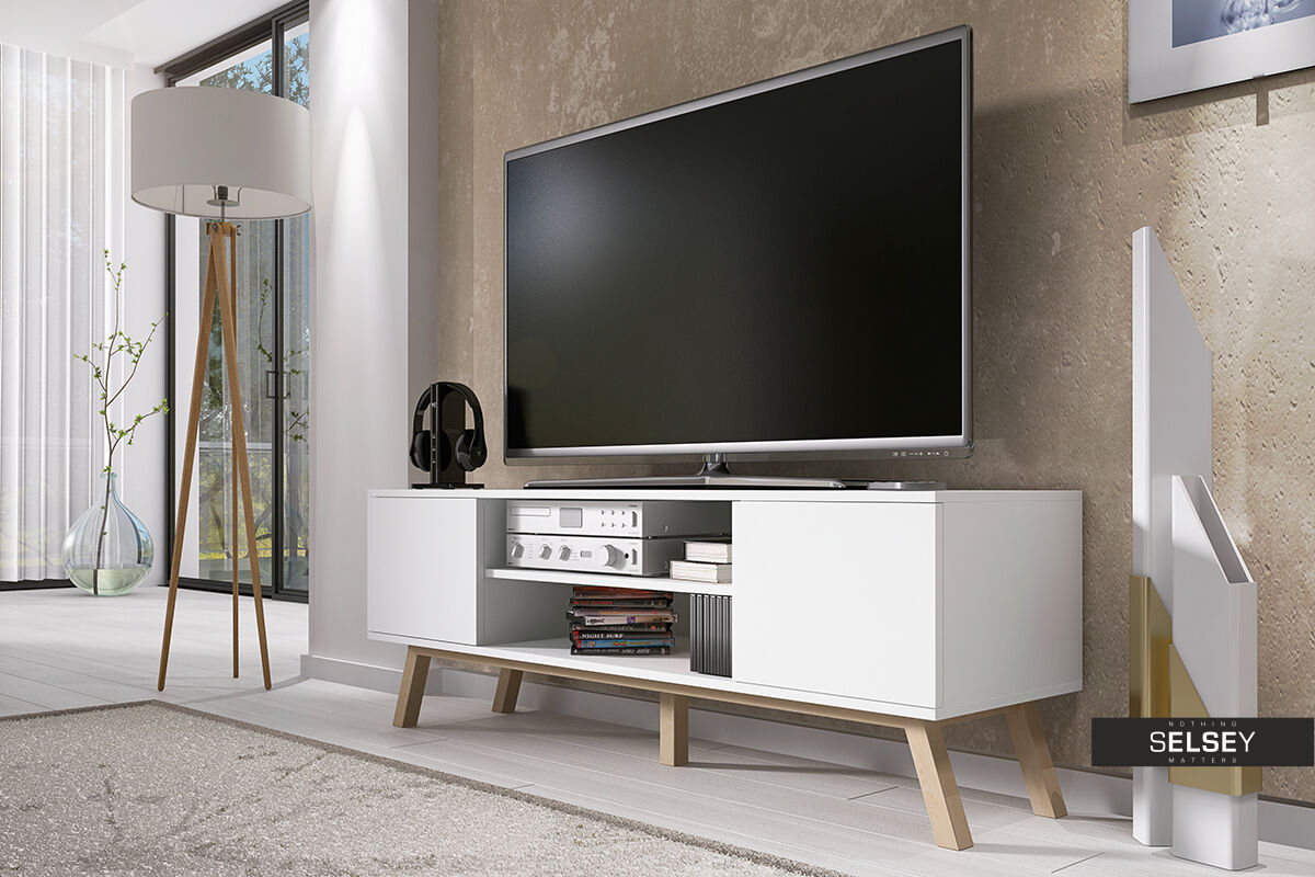 tv m bel lowboard bank schrank vero wood im. Black Bedroom Furniture Sets. Home Design Ideas