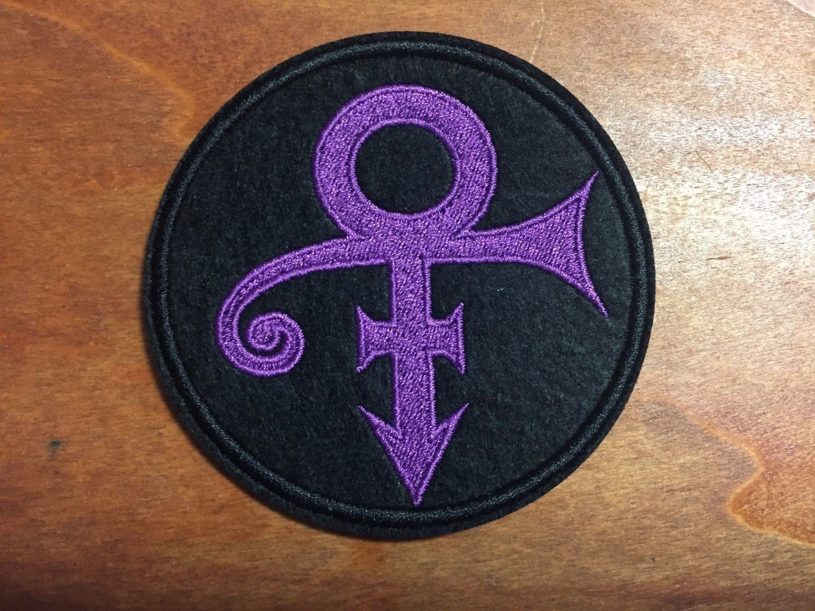 Prince The Artist Love Symbol Purple Logo Patch Embroidered Iron