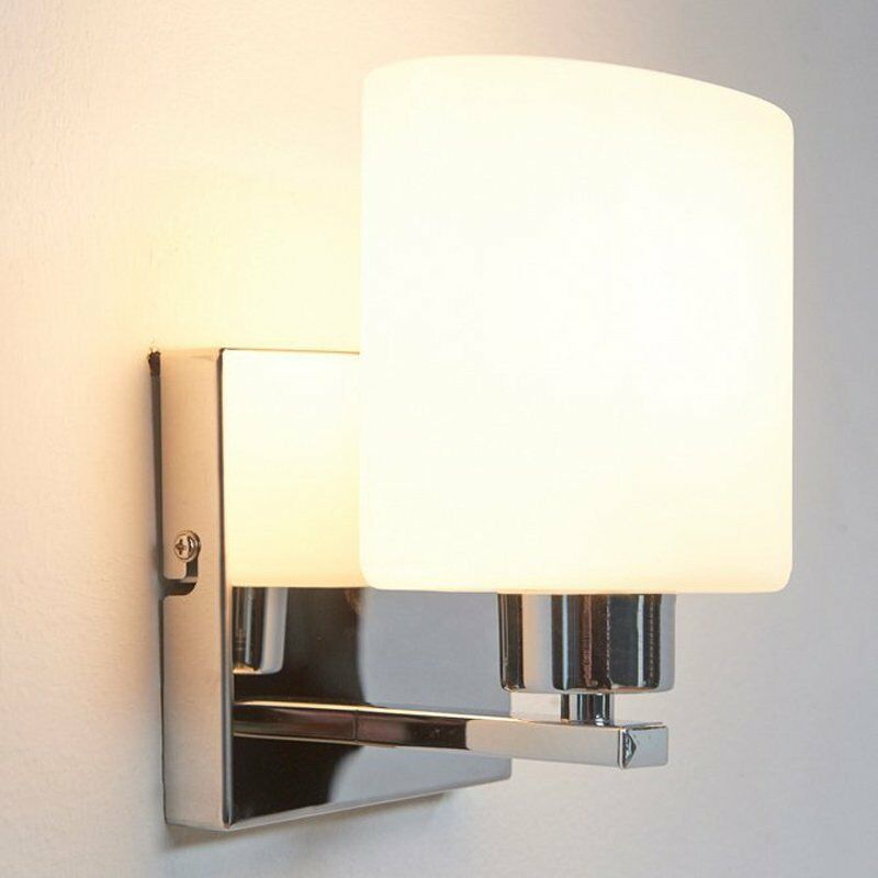 Glass Bathroom Wall Sconces : Chrome White Glass Wall Light Sconces 40W E14 Indoor lamp Bathroom Lighting ? ?13.96 - PicClick UK