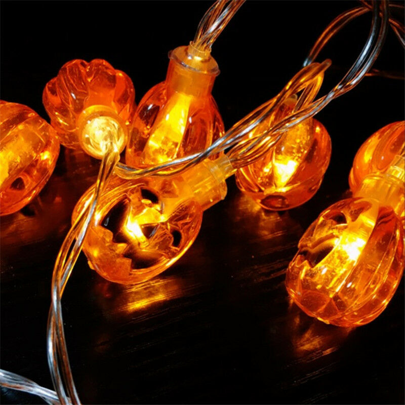 20Pcs Halloween Pumpkin Fairy String Light Outdoor Garden Party Lamp Lights 2M CAD USD 7.28 ...