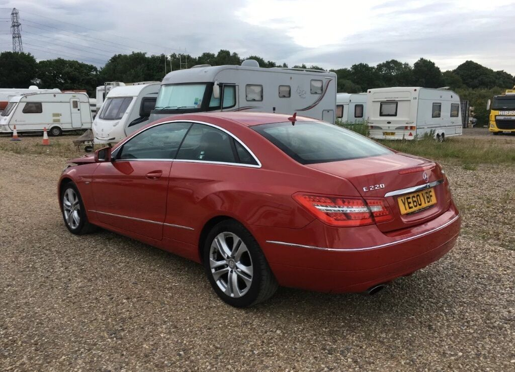 salvage car for sale 2010 mercedes benz e220 se diesel red