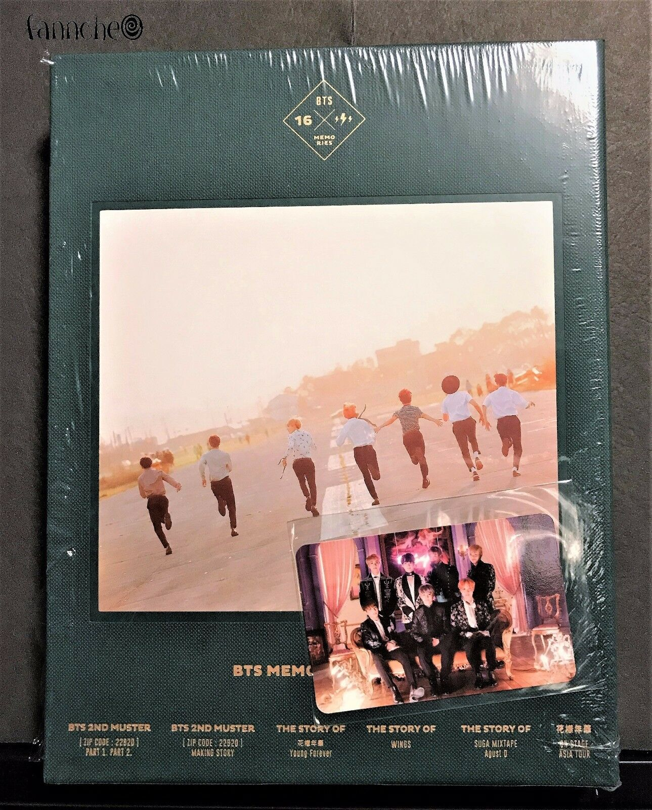 Bts Memories Of 2016 Dvd 4 Disc Digipack With 188p Photo Book K Pop Bangtan Boys Live In The Mood For Love On Stage Epilogue Concert Blood Sweat Tears Group Photocard Card