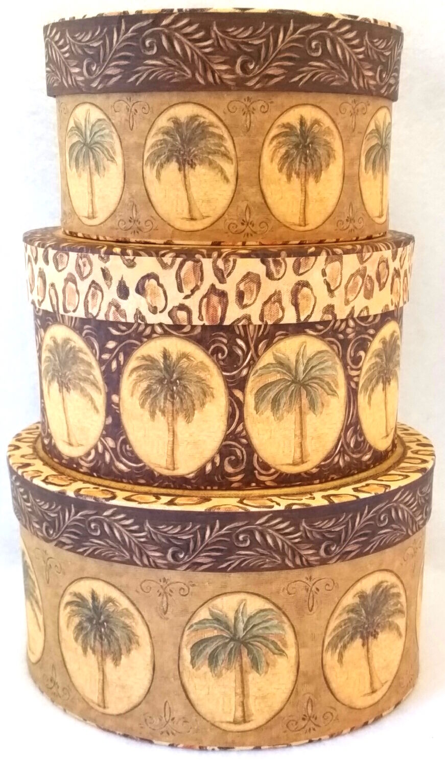 Palm Trees Decorative Storage Boxes Nesting Boxes | Tri Coastal Design Set  Of 3 1 Of 12FREE Shipping ...