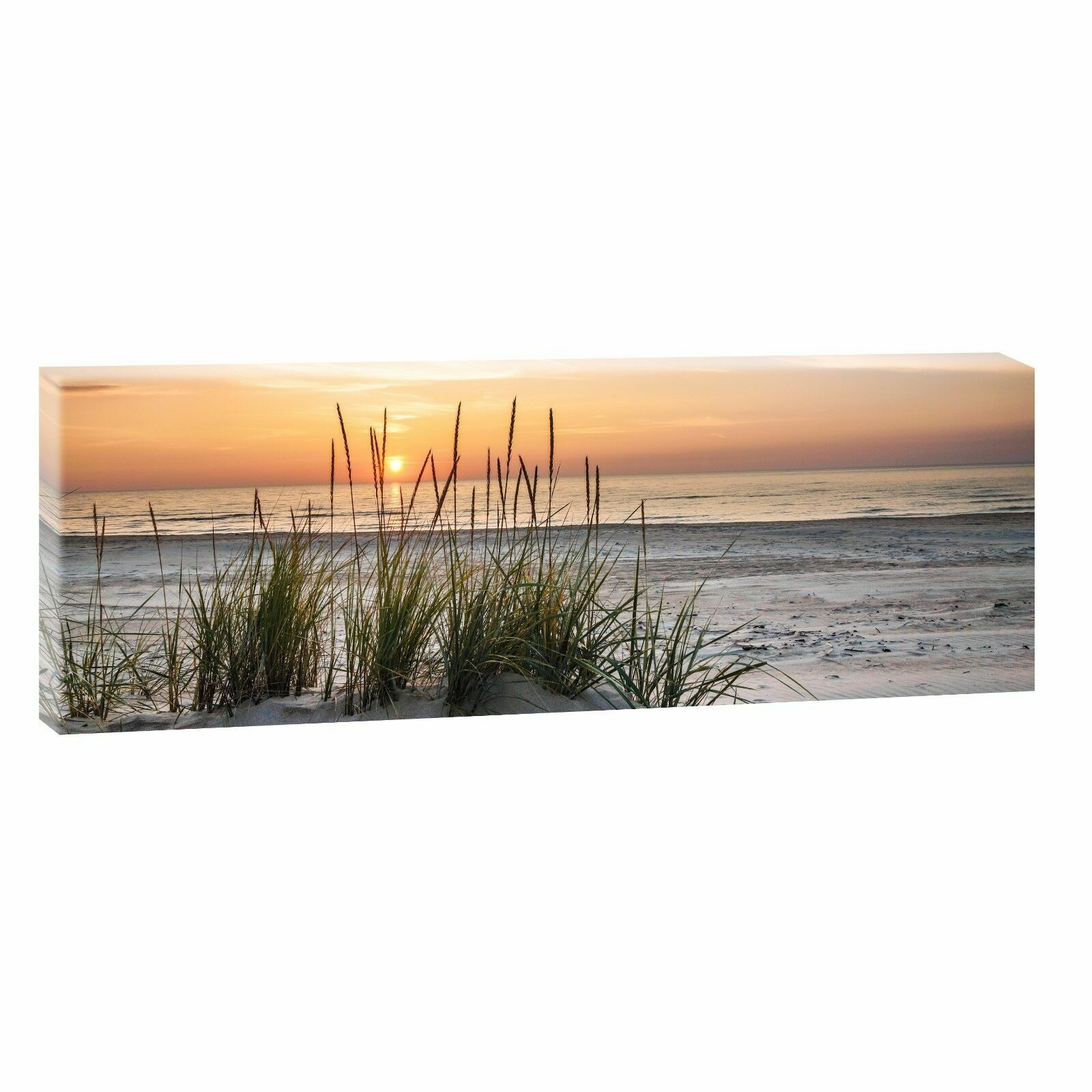 leinwand kunstdruck bilder wandbild panorama landschaft nordsee strand. Black Bedroom Furniture Sets. Home Design Ideas
