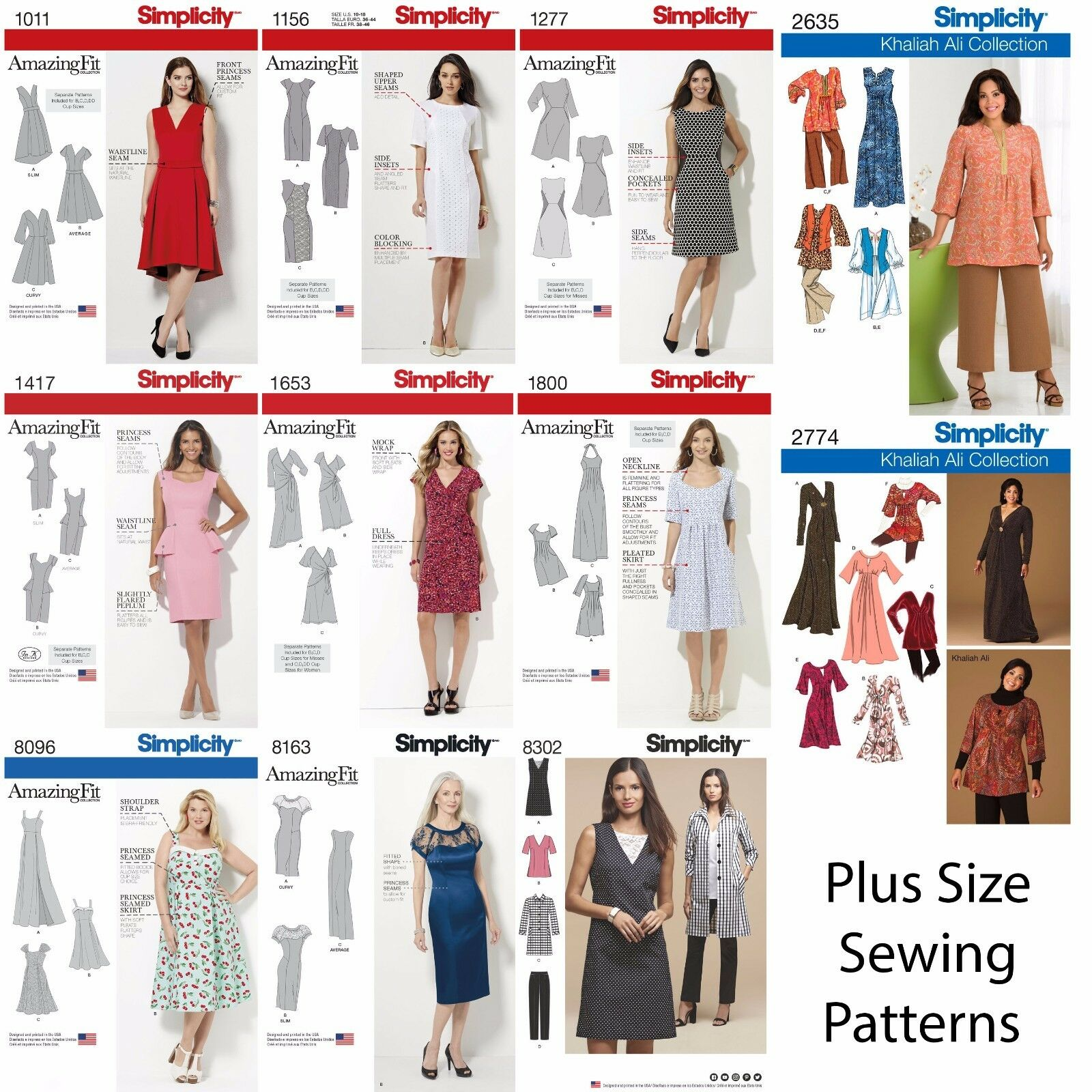 SIMPLICITY SEWING PATTERNS Women\'s Plus Large Size Clothing Amazing ...