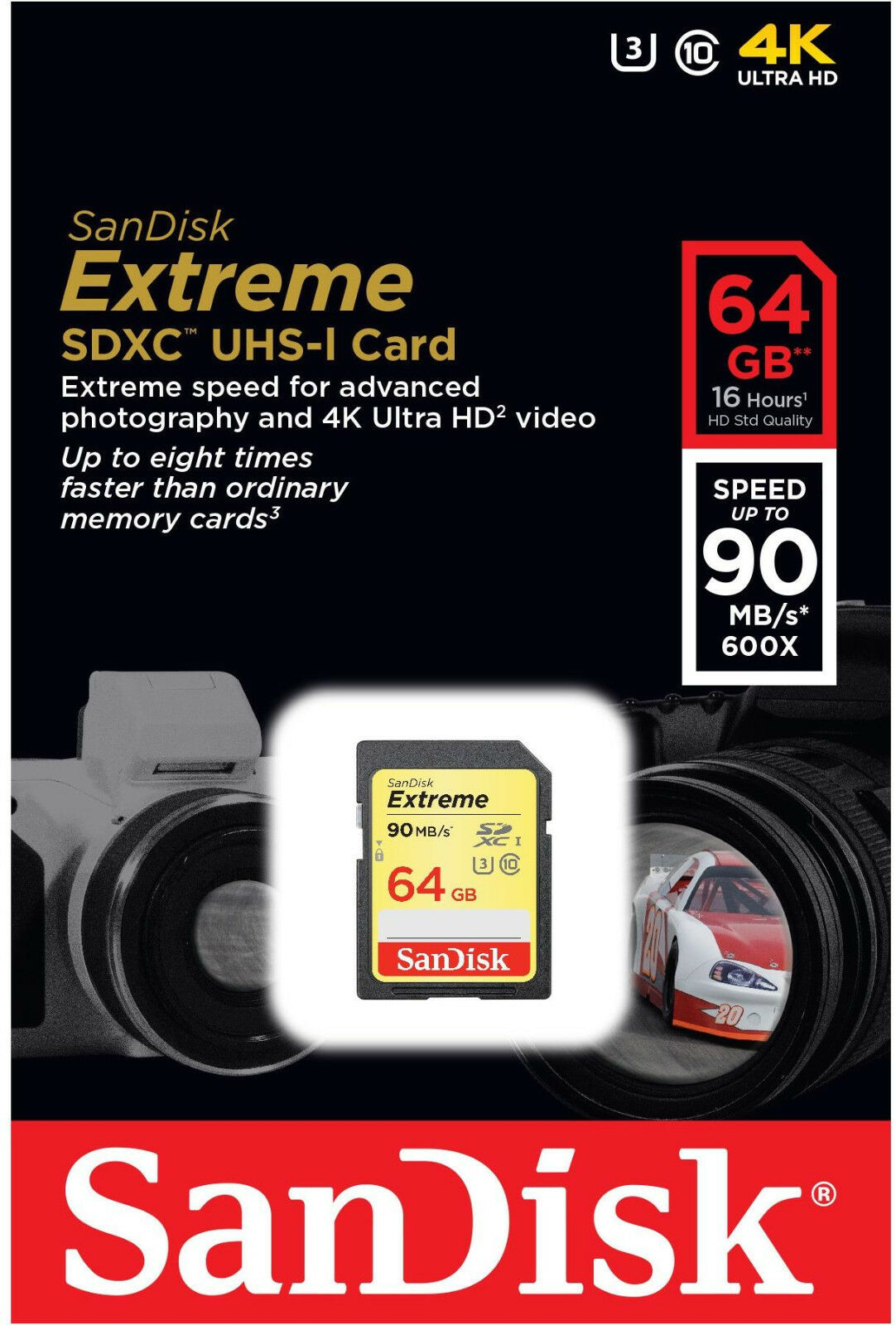 Sandisk Extreme 64gb Sdxc 90 Mb S 600x Uhs 1 Sd Class 10 Memory Card 256 Gb Pro Up To 95mbps Of 3free Shipping