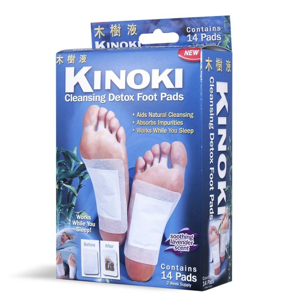 Original Kinoki Cleansing Detox 14 Foot Pads As Seen On Tv Usa Gold Per Box 1 Of 1only 0 Available