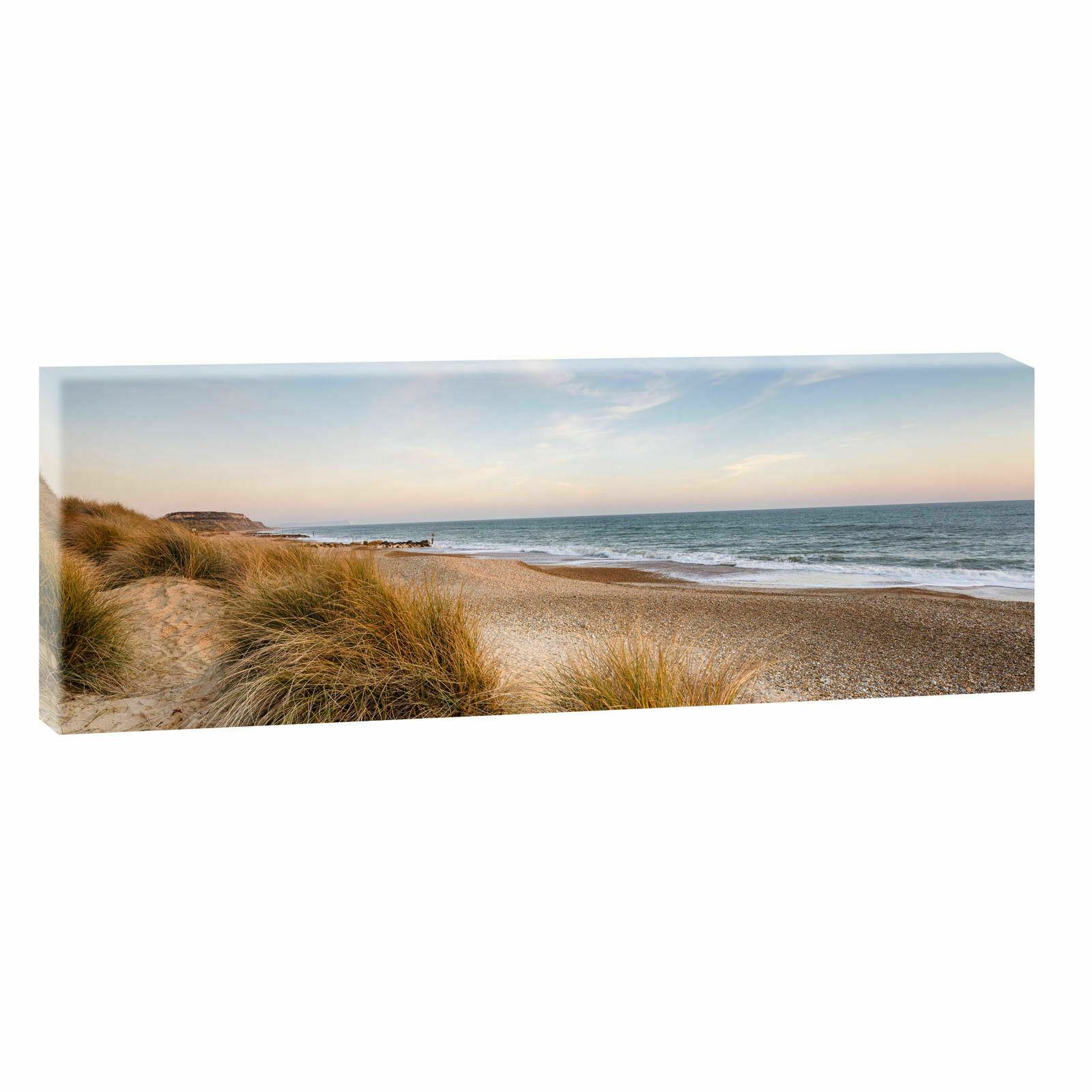 leinwand kunstdruck bilder wandbild panorama landschaft nordsee strand meer 613 eur 20 00. Black Bedroom Furniture Sets. Home Design Ideas
