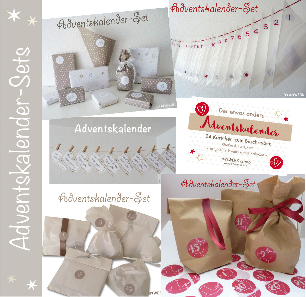 diy adventskalender set zum selbstbef llen t ten. Black Bedroom Furniture Sets. Home Design Ideas