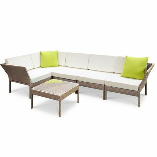 5pcs stackable outdoor lounge set 3 seater wicker rattan for Outdoor furniture 12 seater